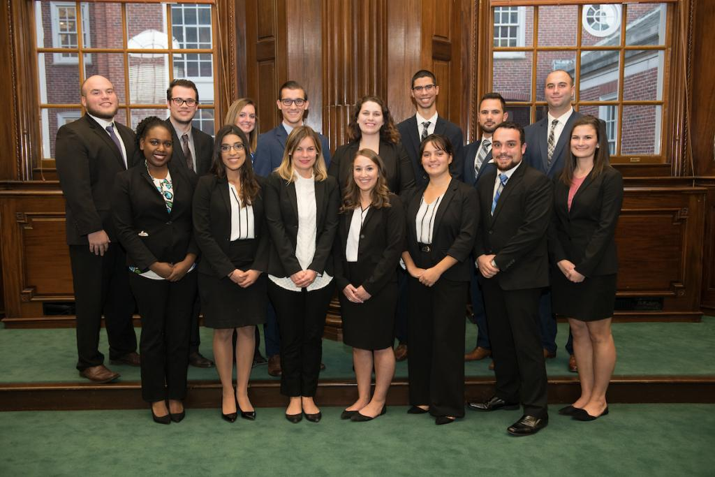 2018-2019 2L Members of the RWU Law Moot Court Board