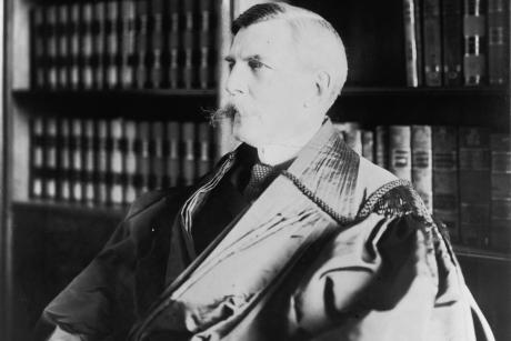 Oliver Wendell Holmes wearing judicial robe