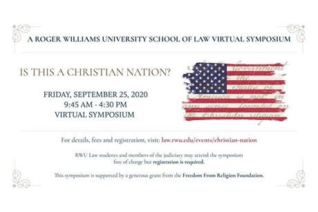 Is This a Christian Nation: Symposium advertisement