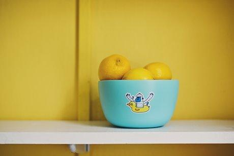 Bowl of Lemons by Sticker Mule