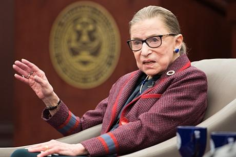 Justice Ruth Bader Ginsburg at RWU Law