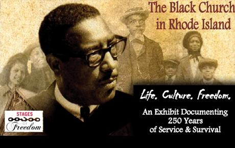 Black Church in RI exhibit graphic