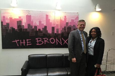 Student and staff member at a Bronx nonprofit