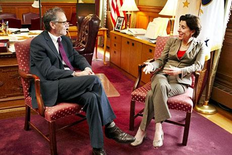 RWU Law Dean Michael Yelnosky in conversation with Governor Raimondo