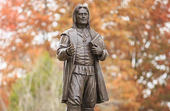 image of Roger Williams on RWU campus in Bristol, RI