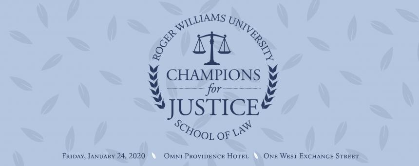 logo for Champions for Justice 2019